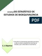 Análisis Estadístico de Estudios de Bioequivalencia