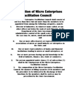 Composition of Micro Enterprises Facilitation Council