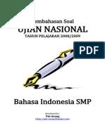 Pembahasan Soal UN Bahasa Indonesia SMP 2009