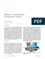 Design of Autonomous Underwater Vehicle