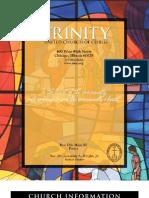 Trinity United Church of Christ Bulletin Mar 9 2008