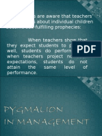 Ppt-pygmalion in Management