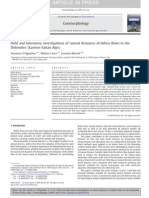 Field and laboratory investigations of runout distances of debris flows