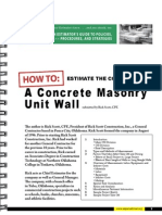 How to Estimate the Cost of Masonry Wall