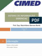 Aula 3 - Dado, Informação e Conhecimento