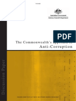 Commonwealth Approach to Anti-Corruption