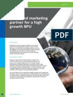 CS-Dedicated Marketing Partner for a High Growth BPU