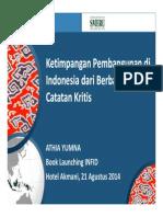 """Catatan Kritis ATHIA YUMNA Book Launching INFID """"Ketimpangan Pembangunan Indonesia"""""""