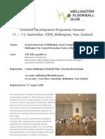 2009 IFF Seminar - Wellington, New Zealand
