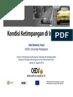 Kondisi Ketimpangan di Indonesia oleh Arief Anshory Yusuf