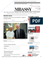 Myanmar Envoy Has Personal Link to Religious Freedom Debate _ Embassy - Canada's Foreign Policy Newspaper