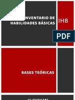 Inventario de Habilidades Básicas Ihb Introduccion Secciones