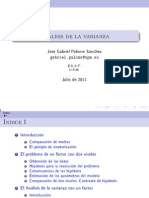 Analisis de La Varianza