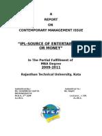 32 Dharmesh Gupta - IPL-Source of Entertainment or Money