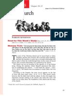 3rd Quarter 2014 Lesson 8 Teachers' Edition the Church