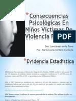 Consecuencias Psicológicas en Niños Víctimas de Violencia Familiar