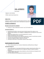 Resume With Pic