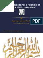Power and Duties - Engr. Faqir Ahmad