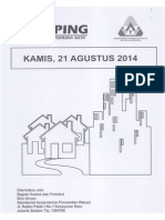 Scan Kliping Berita Perumahan Rakyat, Tanggal 21 Agustus 2014