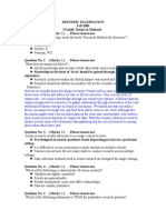 Midterm 2009 Paper