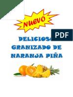 Delicioso Granizado de Naranja Piña