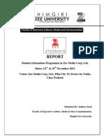 Student Orientation Programme in Zee Media