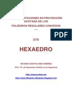 POLIEDROS EN PROYECCIÓN ACOTADA.  (2/5) HEXAEDRO