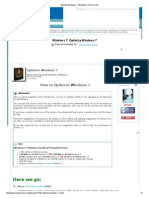Optimize Windows 7 - Windows 7 Help Forums