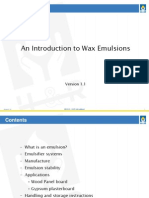 An Introduction to Wax Emulsions
