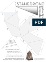 Chestahedron Construction Template