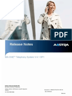 Release Notes MX-OnE TSE 4 1 SP1 Final C