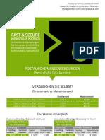 Factsheets Postserver - Preisliste Massenversand Briefpost