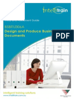 BSBITU306A - Design and Produce Business Documents v 1.7.2
