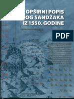 Opširni Popis Kliškog Sandžaka Iz 1550 Godine Behija Zlatar