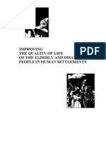 Improving of the Quality of Elderly and Disabled People in Human Settlements, Vol. I and II