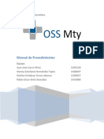 OSS Mty Manual de Procedimientos