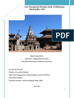 Solid Waste Management Report, Bhaktapur,Ministry of Local Development,  Solid Waste Management Technical Support Center (SWMTSC), Asian Development Bank (ADB),2012