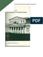 Lourau- Análisis Institucional (Ind)