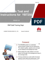 Spectrum Test and Instructions for YBT250