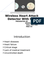 Wireless Heart Attack Detector With GPS