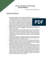 Programas de Orientación e Intervención Psicopedagógica