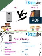Apple iPhone 6 vs Motorola Moto G