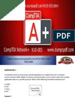 PDF Exam  CompTIA N10-005 Dump