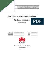 WCDMA RNO Access Problem Analysis Guidance