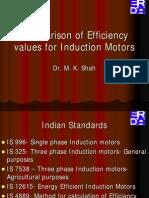 Comparison of Efficiency Values for Induction Motors