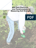Hand Held Electronic Cone Penetrometers for Measuring Soil Strength