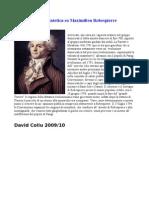 Scheda Sintetica Su Maximilien Robespierre