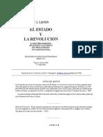 LENIN [Vladimir Ilich Uliánov]. Las Bases Econômicas de La Extinción Del Estado.
