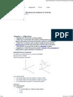 Mechanical Analysis of Activity