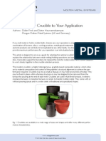 Matching Crucible to Application Mgam